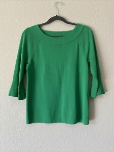 New Talbots Sweater Bell Flared 3/4 Sleeve Boat neck Pullover Top LP Petite