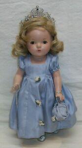 "Original ""Princess Elizabeth"" Madame Alexander 13"" Composition Doll +Box w/Stand"