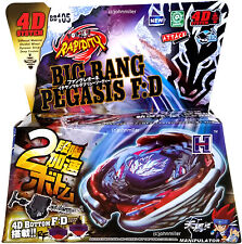 Hot Big Bang Cosmic Pegasus / Pegasis Metal Masters Beyblade Set String Launcher