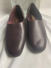 MENS L.B. Evans Radio Tyme 1409 Burgundy Leather SlipOn Slippers Loafers SZ 11M