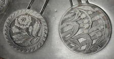 "Vintage 9"" Rubber Casting Mold Art Nouveau Art Deco Buttons Pendants Brooch More"