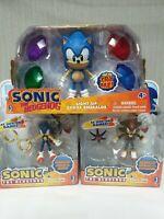 Set of 3 Figures Jazwares Sonic (Rings+Doom's Eye+Sonic & Light up)  NEW