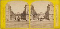 Rue Royale La Madeleine Parigi Foto Stereo Da Jouvin Vintage Albumina Ca 1865