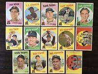 ⚾️1959 Topps Baseball Pittsburgh Pirates Lot Of 14 Roberto Bob Clemente 478 543