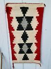 Old hand weaved native American rug