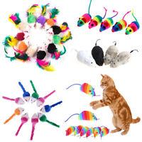 5Pcs/10Pcs Colorful Fur False Mouse Pet Kitten Cat Toy Mini Funny Playing Toys