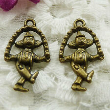 Free Ship 240 pieces bronze plated Mickey Mouse charms 23x13mm #505