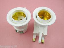 LED Light Bulb Lamp Socket Base Holder E27 to UK Plug Plastic Adapter Converter