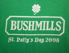 BAILEYS IRISH CREAM beat-up tee Bushmills logo St. Patty's Day 2008 T shirt XL