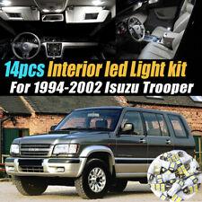14Pc Super White Car Interior LED Light Kit Pack for 1994-2002 Isuzu Trooper