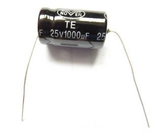 1000uf 25v 85c Nover Axial Size 21mmx13mm
