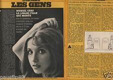 Coupure de presse Clipping 1975 Muriel Cerf  (2 pages)