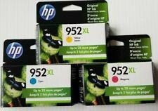 OEM HP 3 Pack 952 XL Tri-Color Cyan Magenta & Yellow High Yield Cartridges