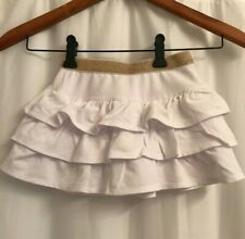 Epic Threads Toddler Girl Sz. 3T NEW White w/ Sparkly Gold Waist Tiered Skirt