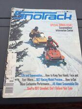 Feb 1976 SNOTrack snowmobile magazine Ski Doo Sonic COVER Arctic Cat Polaris