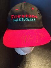 B40) VINTAGE BIG FOOT Firestone Wilderness Monster Truck hat cap SnapBack Signed