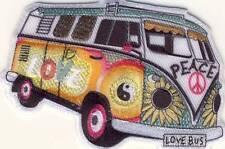 Hippie Bus Bully Love Peace - Aufnäher Aufbügler Patch Applikation OVP #9162