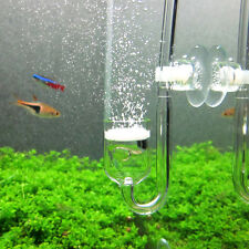 Aquarium CO2 Diffuser Check Valve U Shape Glass Tube Suction Cup Tool