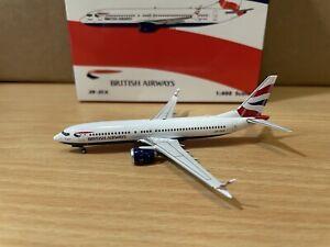 British Airways 737 MAX8 1:400 (Reg ZS-ZCA) PH04263 Phoenix