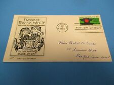 First Day Cover, Promote Traffic Safety, Use Seatbelts Always, 1965, FDC