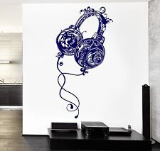 Wall Vinyl Music Headphones Rock Pop Song Guaranteed Quality Decal (z3574)