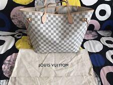 Louis Vuitton Neverfull MM Damier Azur Bag in excellent condition