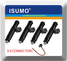 4xFuel Injectors with connector For Siemens Deka for TOYOTA for Audi for GM EV1