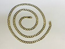 """14k Solid Yellow Gold Comfort Curb LinK 26"""" 4.7MM 15 GRAMS  chain/Necklace CC120"""