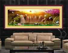 """NEW printed girds living room cross stitch """"rising sun from eastern"""""""