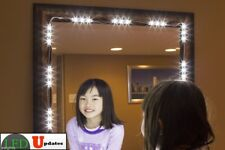 Mirror LED Light For Cosmetic Makeup Vanity Mirror Lighted White With Power 10ft