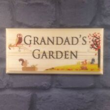 GRANDADS Garden (automne) - Plaque / Signe / Cadeau-Père Papa abri de jardin 249