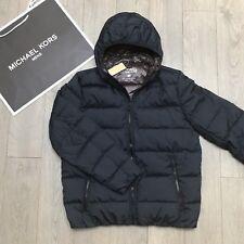 BNWT Gents MICHAEL KORS Down coat Mens Navy Blue Brown jacket Size XL RRP£300