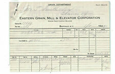 1925 E Grain Mill Elevator Corp Corn Exchange Inspec Weighmaster Cert Buffalo NY