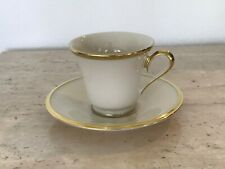 Lenox Eternal Cup & Saucer Ivory & Gold Dimension Collection Excellent Condition