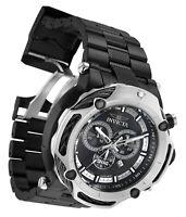 Invicta 33663 SHAQ Men 60MM Black Dial Stainless Steel Black Bracelet Watch NEW