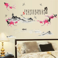 China Landscape Poetry Room Home Decor Removable Wall Stickers Decals Decoration