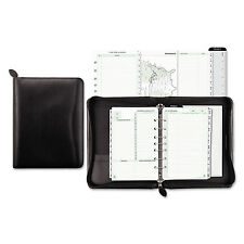 Day-Timer Recycled Bonded Leather Starter Set 5 1/2 x 8 1/2 Black Cover 41745