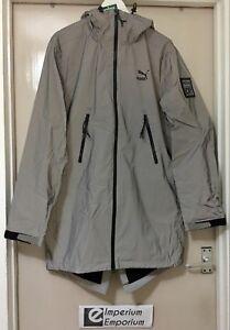 Men's PUMA ICNY Windbreaker Jacket Coat 3M Reflective Silver Size M