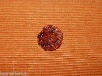 Marguerite de lustre ancien en pâte de verre marron 424004