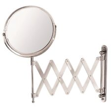 Wall Mounted Chrome Round Extendable Shaving / Vanity Mirror (18cm dia) | Mundo