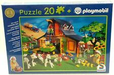 BAUERNHOF FARM Playmobil / Schmidt PUZZLE + FIGUR 55247 von 2002 OVP NEU RAR !