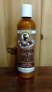 New! Howard Pine-Ola Copper & Brass Polish Cleans.Shines.Protects 8oz