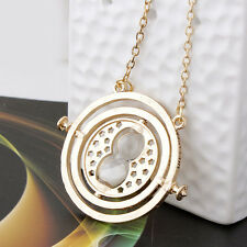 Harry Potter Hermione Granger Gold Tone Hourglass Time Turner Pendant Necklace