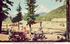 CAMP GROUND NEAR MT. HOOD, OR card furnished for men in the armed service WWII