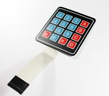 Folientastatur, 4x4 Matrix, 16 Taster, Membrane Keypad für Arduino Nano/Uno/Mega