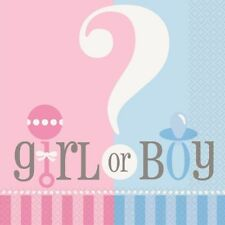 BABY SHOWER REVEAL PARTY - ITS A BOY / GIRL ?  NAPKINS (16)