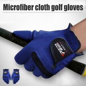Men GOLF Gloves Left Right Hand Sweat Absorbent Microfiber T5C2 Soft Cloth S8H0