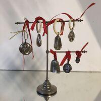 Argent Massif Lot de 7 Hochet Bébé 👶 Collection Socle Ancien Jouet