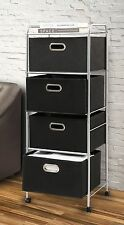 New Scrapbook Supply Utility Storage Cart 4 Large Fabric Bin Drawers Rolling 47""