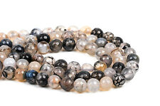 10mm Round WHITE CHOCOLATE AGATE Beads, faceted, full strand, 32 beads, gag0360